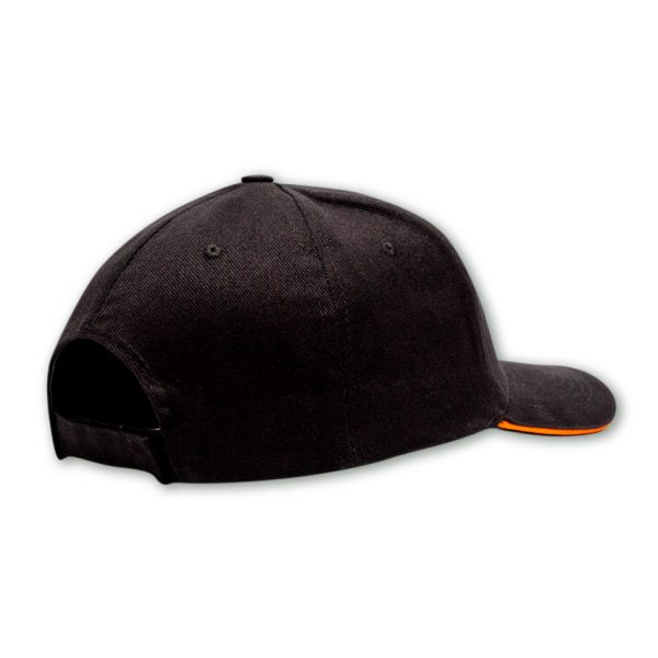 black and orange mens cap