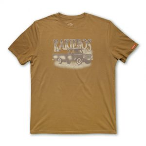 tobacco coloured mens t-shirt by kakiebos