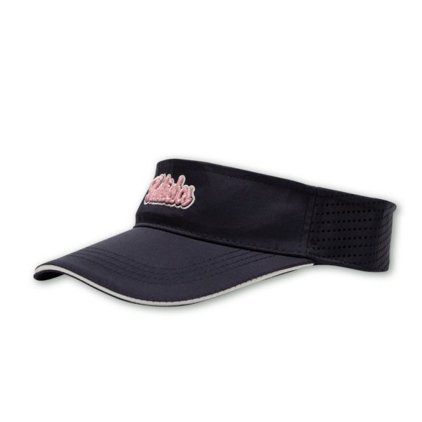 embroidered navy ladies cap front shot