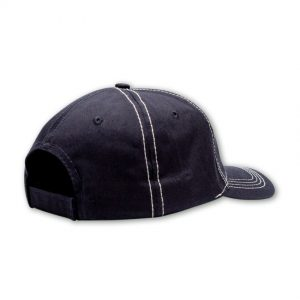 back shot of navy mens cap