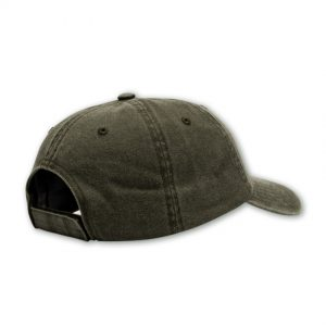 olive back shot of mens cap