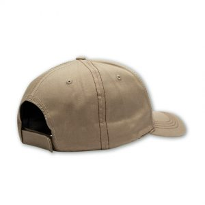 khaki back shot of mens cap